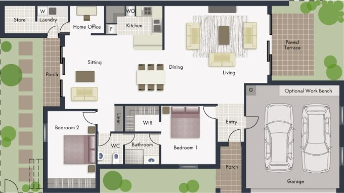 Jindabyne floor plan - click to expand