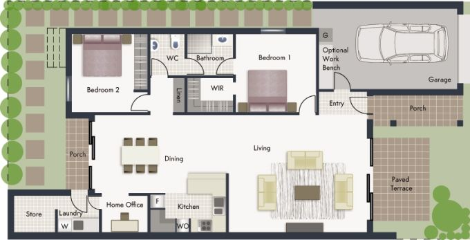 Nagambie floor plan - click to expand