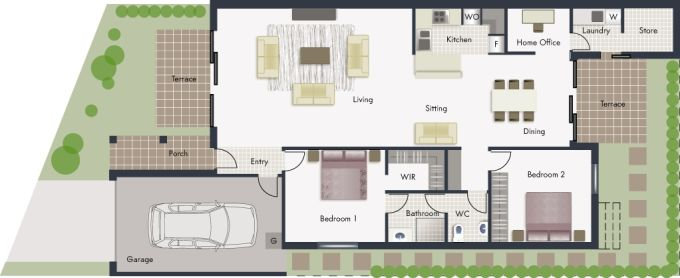 Hume floor plan - click to expand
