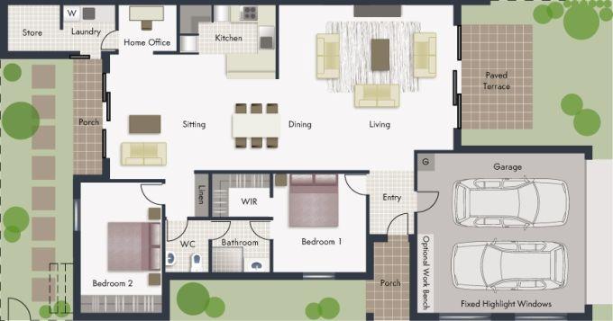 Wendouree floor plan - click to expand