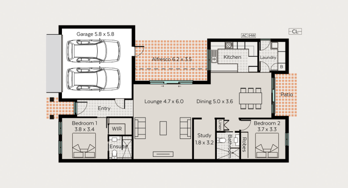 Glenmaggie floor plan - click to expand